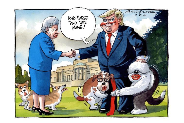 كاريكاتير التايمز يستهزء ببوريس جونسون ومايكل غوف