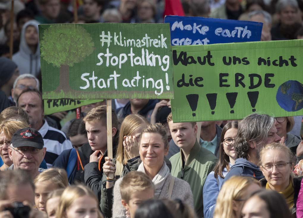 آلاف المتظاهرين في ألمانيا بسبب المناخ