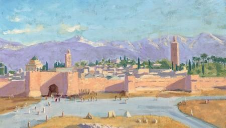 لوحات وينستون تشرشل المستوحاة من مراكش تنبعث من جديد