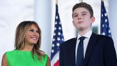 عاجل .. زوجة ترامب تقول إن ابنهما بارون أصيب مثلهما بكوفيد-19 وشفي
