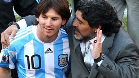 ميسي: مارادونا لن يغادر.. لأن دييغو أبدي