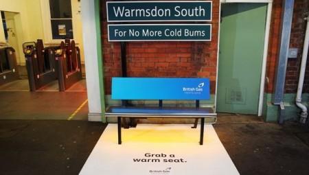 شركة بريطانية تثبت مقعدا حراريا في أحد محطات القطار