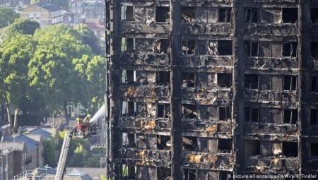 حريق كبير في لندن يستدعي تدخل 40 رجل إطفاء