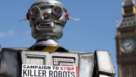 الإنسان الآلي  المحارب خطر على البشرية