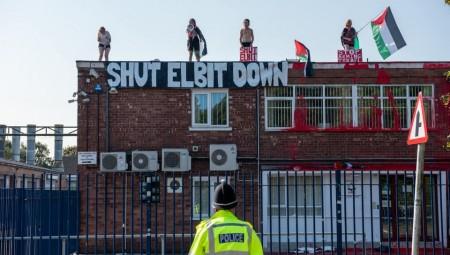 ناشطون فلسطينييون يغلقون مبنى شركة إسرائيلية في المملكة المتحدة