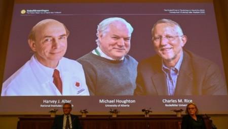 عاجل .. نوبل الطب للبريطاني مايكل هوتن والأميركيين هارفي ألتر وتشارلز رايس