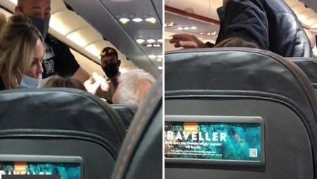 مسافرة تصفع زوجها داخل طائرة بعدما رفض ارتداء الكمامة