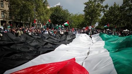 فرنسا.. الآلاف يتظاهرون دعما للفلسطينيين