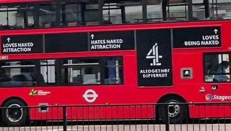 يحب أن يكون عاريا: هيئة النقل في لندن تسحب إعلانا يحمل هذه العبارة