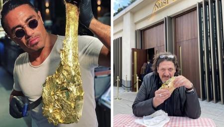 صحافي بريطاني يتناول كباب بـ8 جنيهات أمام مطعم Salt Bae احتجاجا على أسعاره